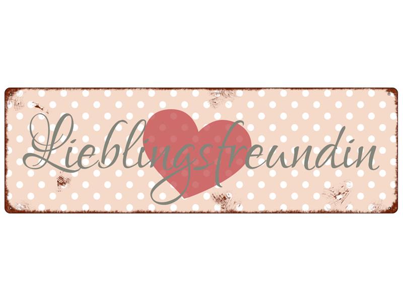 metallschild-blech-lieblingsfreundin-deko-geschenk-freunde