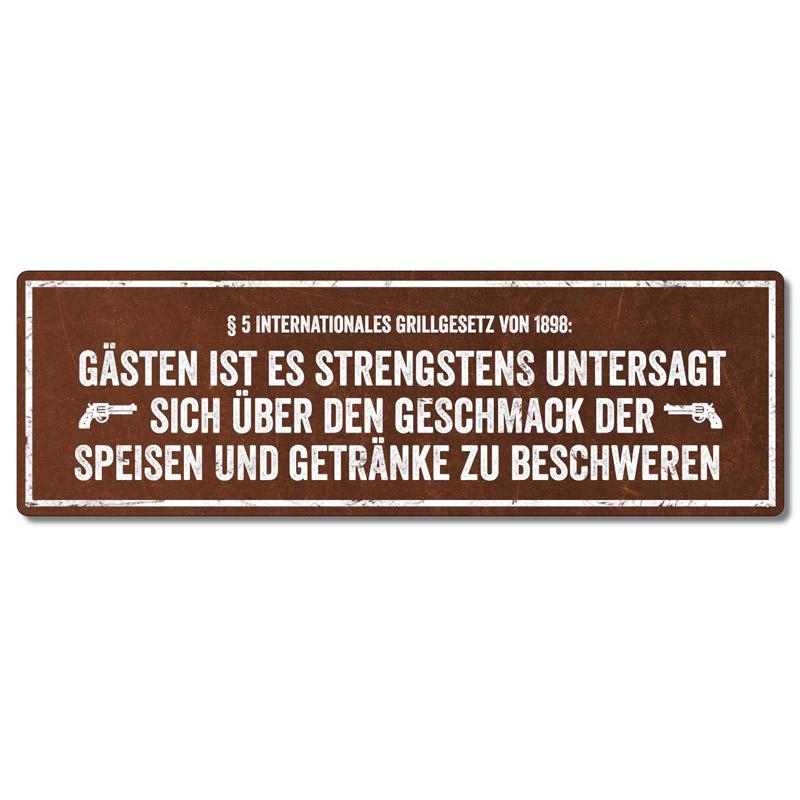 interluxe-metallschild-gaesten-ist-es-strengstens-untersagt-schilder-fuer-den-grill-als-geschenk-oder-deko-fuer-die-grillecke-wetterfest-made-in-germany