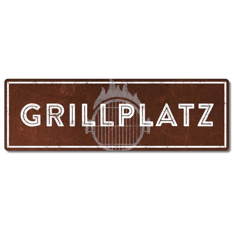 interluxe-metallschild-grillplatz-rost-schild-fuer-den-grill-als-geschenk-fuer-die-grillecke-wetterfest-made-in-germany-extra-schwere-qualitaet