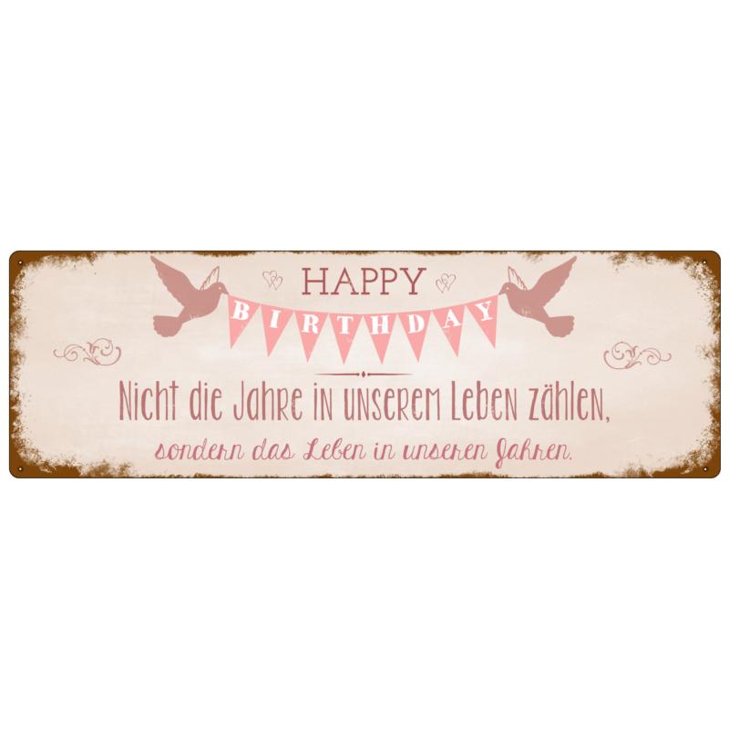 interluxe-metallschild-blechschild-happy-birthday-nicht-die-jahre-geschenk-geburtstag