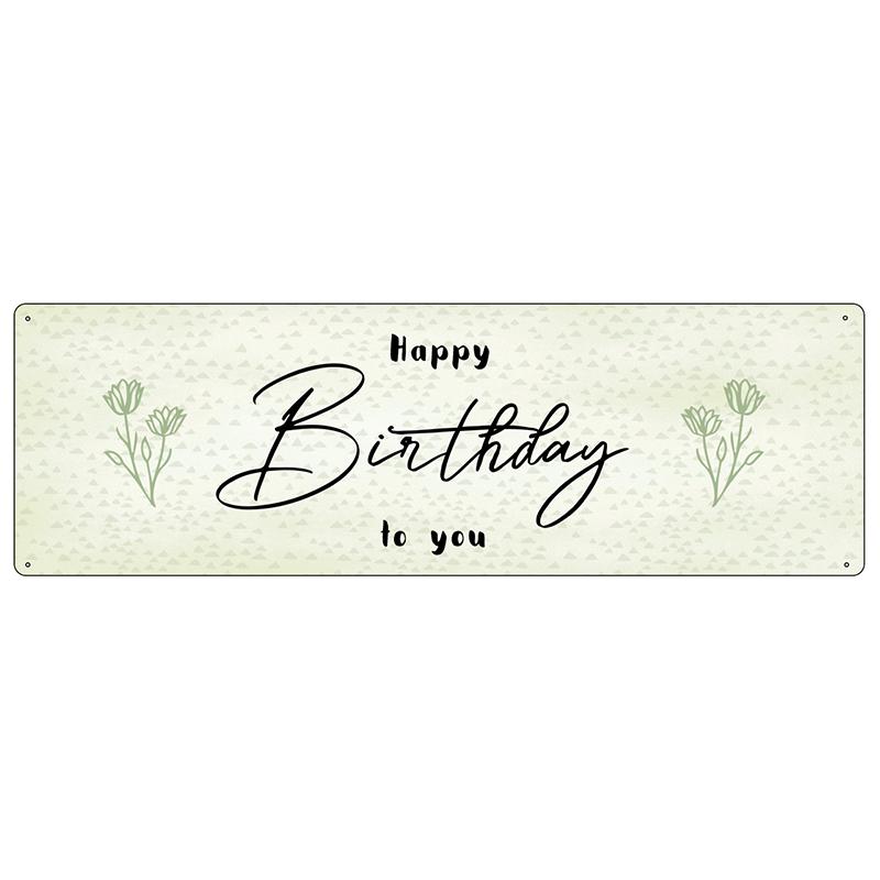interluxe-metallschild-blechschild-happy-birthday-to-you-geburtstag-glueckwuensche-blumen